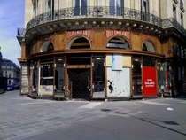 Abandoned shop somewhere in Paris