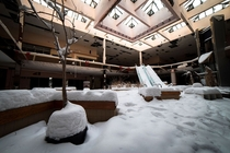 Abandoned Shopping Mall filled with snow
