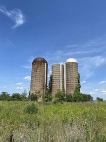 Abandoned silos in upstate New York