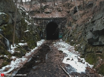 Abandoned since  - The Clinton Train Tunnel in Massachusetts