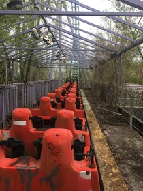 Abandoned Six Flags in New Orleans Louisiana