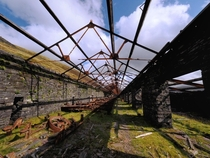 Abandoned slate cutting room in Dinorwic Quary Wales