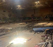 Abandoned Sleighton Farm School Gym