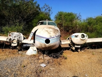 Abandoned small plane in Israel