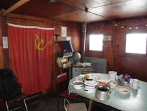 Abandoned Soviet Antarctic station Oasis