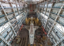 Abandoned Soviet Space Shuttle in a hangar by Ralph Mirebs