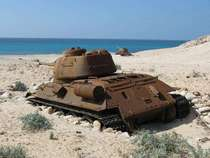 Abandoned Soviet Tank left on Socotra Island Yemen