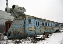 Abandoned soviet turbojet train