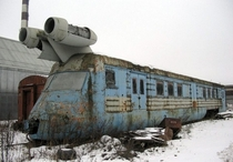 Abandoned soviet turbojet train looks like something from Star Wars