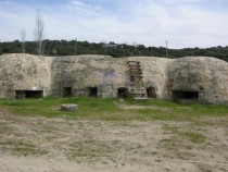 Abandoned Spanish civil war bunkers Brunete Madrid