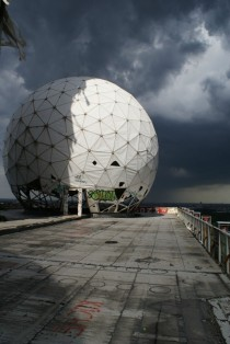 Abandoned spy station in Berlin Germany
