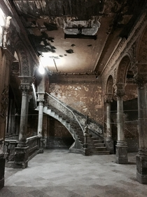 Abandoned staircase in Havana Cuba Theres a restaurant on the roof of this building