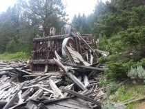 Abandoned Stamp Mill and Mine Tobacco Root Mountains Montana