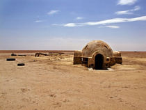 Abandoned star wars movie set from A New Hope known as the Lars Homestead Tunisia