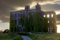 Abandoned stately home in Galway Ireland