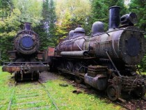 Abandoned steam engines in Maine