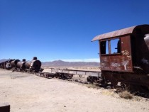 Abandoned steam locomotive Salar De Uyuni