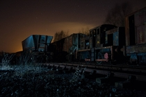 Abandoned steam trains in Scotland