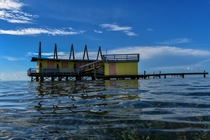 Abandoned Stilt shack in stiltsville key Biscayne