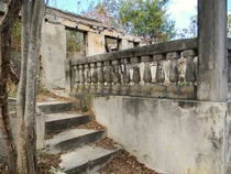 Abandoned Stone Sanctuary  St John Island US Virgin Islands