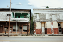 Abandoned storefronts on Main St in Durbin West Virginia