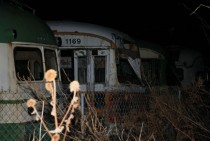 Abandoned street cars that were going to be used for a Stepford-looking town that popped up in my rural community They were left outside the city limits and have yet to be used