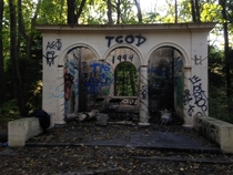 Abandoned Structure at the JC Phillips Nature Preserve in Beverly MA