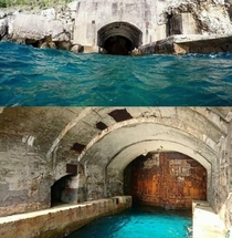 Abandoned submarine base in Greece