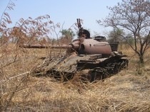 Abandoned Sudanese tank on the outskirts of Malakal The area here was heavily contested during the - civil war Photo by Simon Roughneen Darfur Sudan