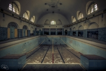 Abandoned swimming pool   by Okieh