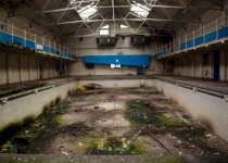 Abandoned swimming pool in Brighouse UK