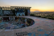 Abandoned swimming pool in the Arizona desert