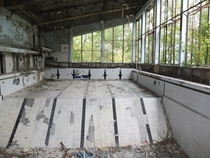 Abandoned swimming pool outside Kiev Ukraine