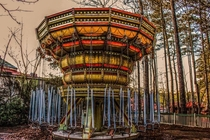 Abandoned swing ride at American Adventure theme park in Atlanta GA I rode this same rode  years ago and now it sits rotting