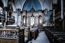 Abandoned synagogue in NYC Burned down a few years ago