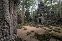 Abandoned Ta Nei Temple in Cambodia