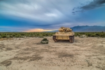Abandoned Tank Decaying in the Desert