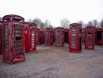 Abandoned Telephoneboxes graveyard