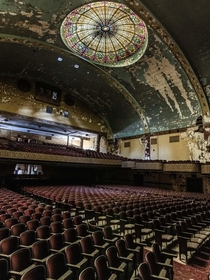 Abandoned temple with an ornate theater