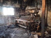 Abandoned textile machine Istanbul Turkey