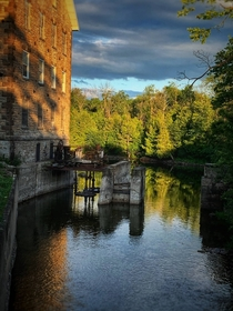 Abandoned textile mill in Ontario Canada