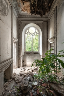Abandoned th-century chateau in France