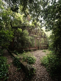 Abandoned th-century greenhouse in Italy