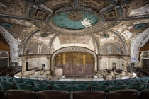 Abandoned theater under renovations