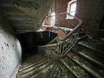 Abandoned theatre in Manchester England The stairs are incredibly risky in its current condition