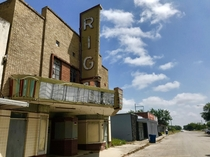 Abandoned theatre in Premont TX