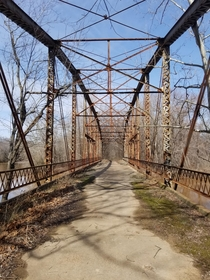 Abandoned Through Truss Bridge in Oklahoma  OC