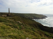 Abandoned tin mines in Cornwall UK