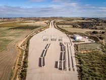 Abandoned Toll Plaza on the unfinished MP- highway near Madrid