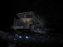 Abandoned  tonne truck in a mine